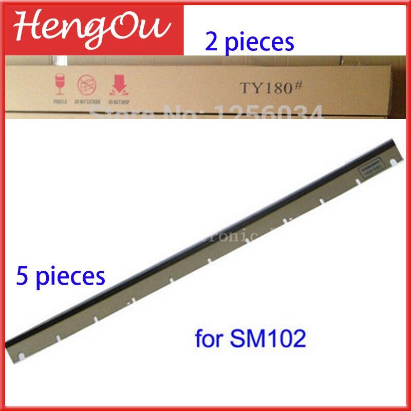 2 pieces TY180, 5 pieces wash up blade for SM 102 MACHINE HEIDELBERG
