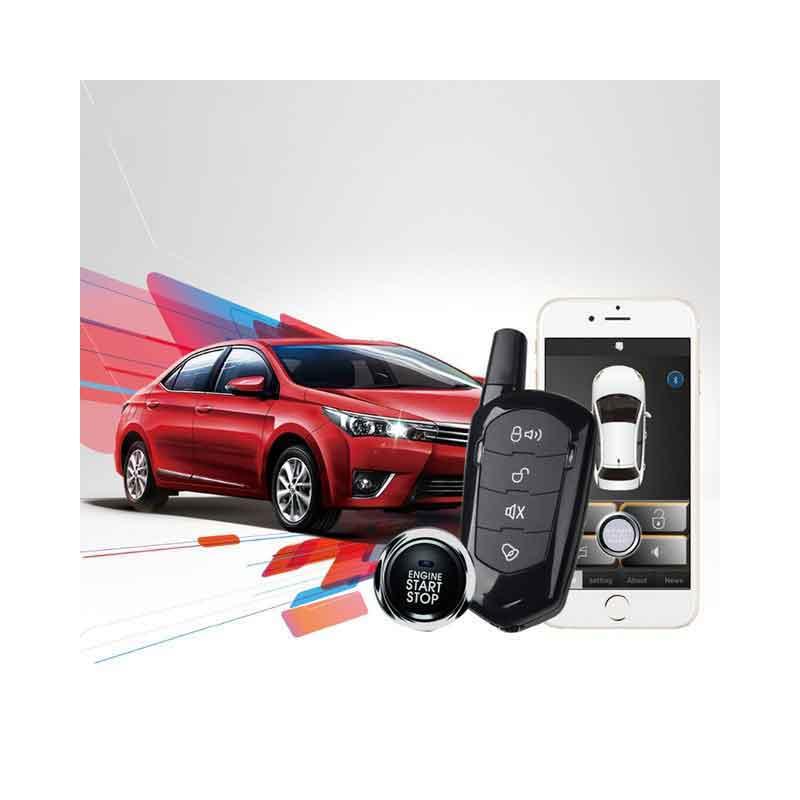 Système d'alarme de voiture démarrage automatique démarrage à distance système d'alarme verrouillage central de voiture démarrage bouton d'arrêt pke entrée sans clé alarme automatique magicar