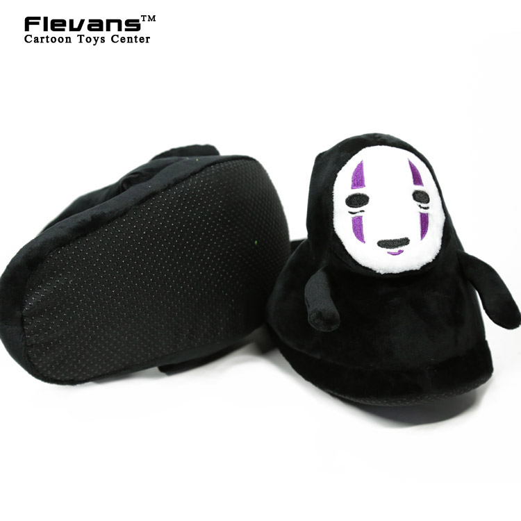 Anime Cartoon Spirited Away No Face Plush Toys Plush Shoes Home House Winter Slippers for Children Women Men
