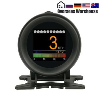 AUTOOL X60 HUD Head Up Display Per Auto OBD Pressione Calibro di Acqua di Velocità-Temp Digitale Indicatore di Temperatura Dell'olio Tester Digitale di allarme