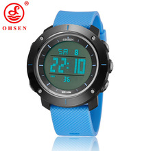 OHSEN Outdoor Sports Watches Men Watch Digital LED Electronic Man Chronograph Clock Wristwatches 1611