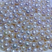 AAA lots 20 pcs loose pearl undrilled white 9 10mm rice beads