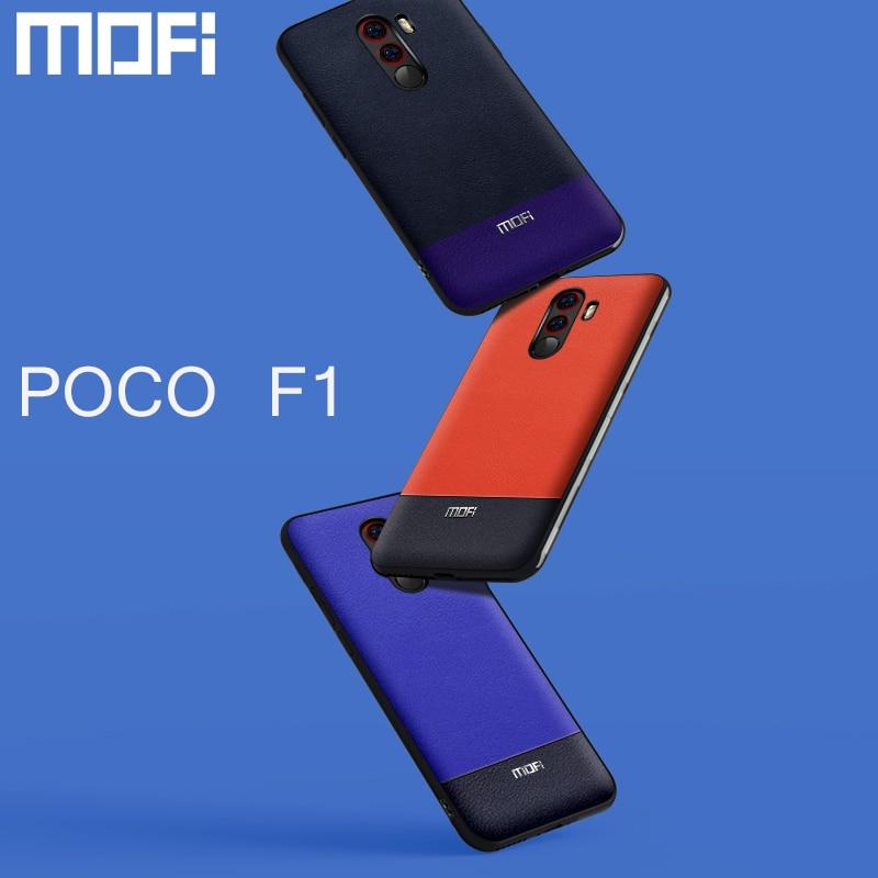 Poco F1 Case For Xiaomi Pocophone F1 Case Pu Leather Back Cover Business For Xiaomi Poco F1 Case Two Tone Orange Dark Blue Pink