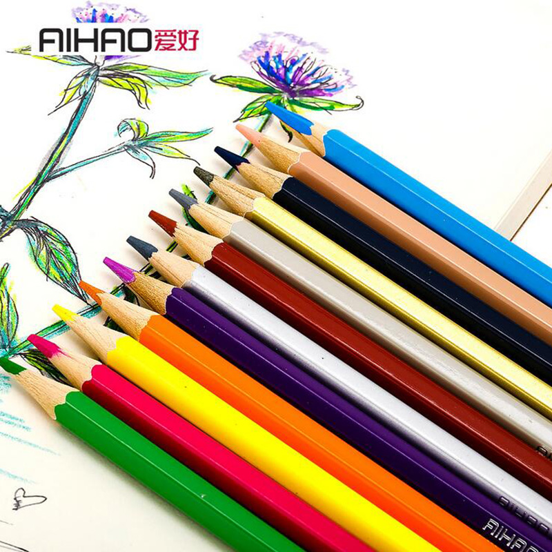 Nature story color pencils for drawing 12/18 different colores pencil set Crayon Stationery Office school supplies lapices(China)