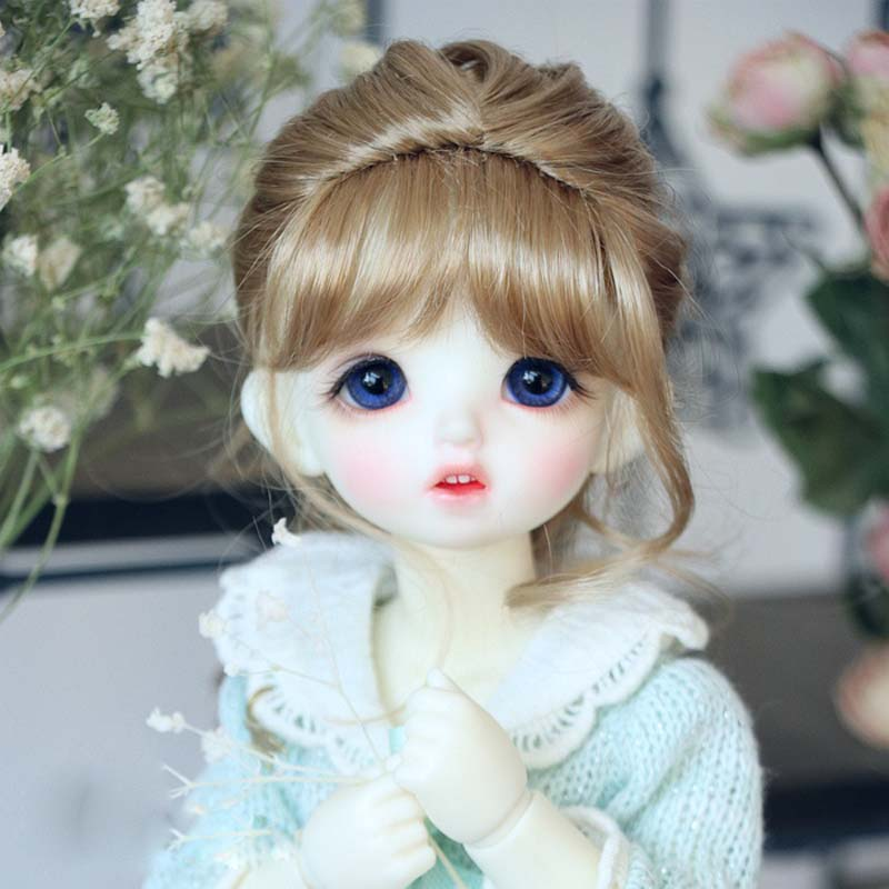 2018 New Style 1/3 1/4 16 BJD Wig Super Doll Wig Fashion Mohair Single Braid For BJD Doll Hair new style 1 3 1 4 16 bjd wig super doll cute wig mohair single braid for bjd doll hair free shipping