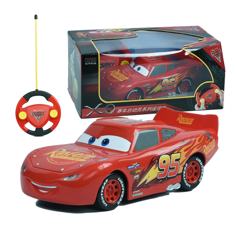 2018 Disney Pixar Cars 3 Lightening Macqueen RC Car Toys for Children Boys Car Race Xmas Gifs with Cool Remote Controller