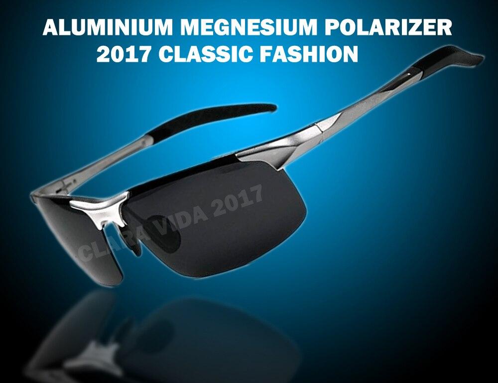 2019 New Real Sale Gafas De Sol =silver= Aluminium Titanium Magnesium Battle Field Style Polarized Uv400 Uv100% Mens Sunglasses