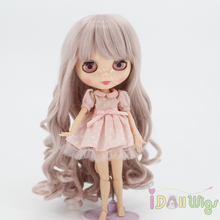 Wigs Only! Taro Miilk Wigs for Blyth Dolls Heat Resistant Synthetic Doll Hair Accessories wigs only taro miilk wigs for 18 american girl dolls reborn dolls with 10 11inch head heat resistant synthetic hair accessory