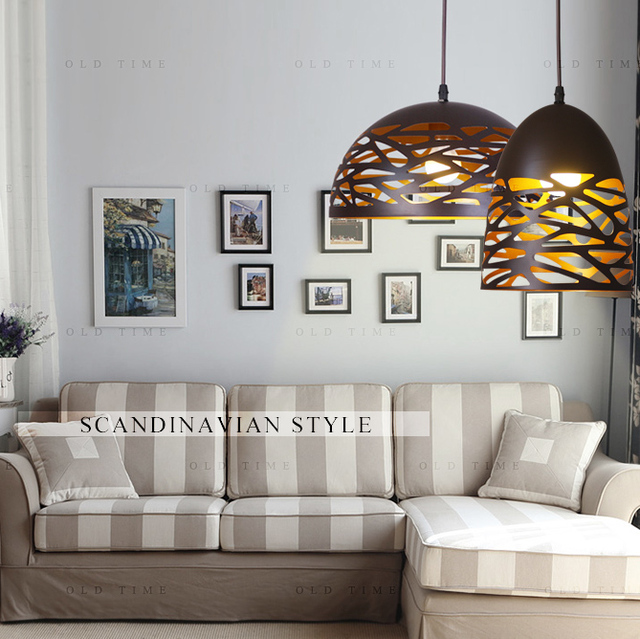 Hallow out hanglamp in art deco stijl scandinavische stijl led lamp e27 voor eetkamer bar cafe - Deco voor eetkamer ...