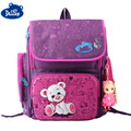 2016 New Delune Authentic School Bag Backpacks Bear Printing Schoolbags for Girls Boys Durable Backpack for Primary Students