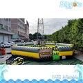 Transporte marítimo de 8 Pessoas Versão Vassoura Gonflable Eliminador de Curso de Fusão Wipeout Inflável Para A Venda