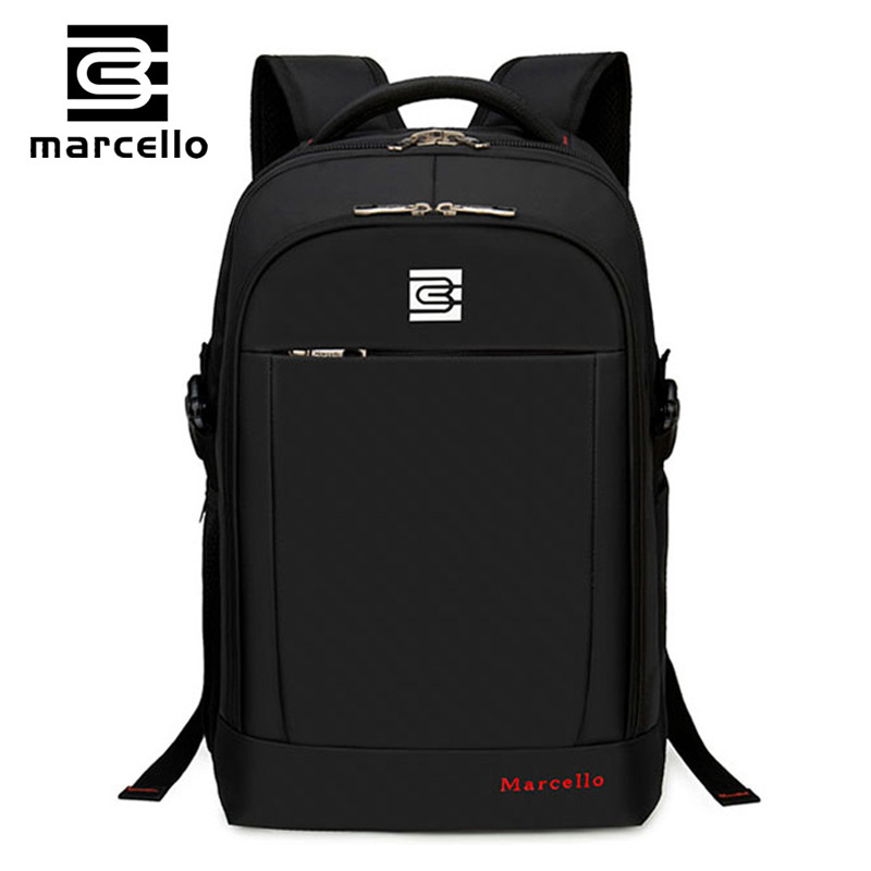 MARCELLO font b Backpack b font Men Women font b Backpacks b font Bag for 15