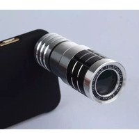 Clip Portable Super HD 20mm 12X Zoom Telephoto Lens Mobile Phone Camera Kit With Tripod And