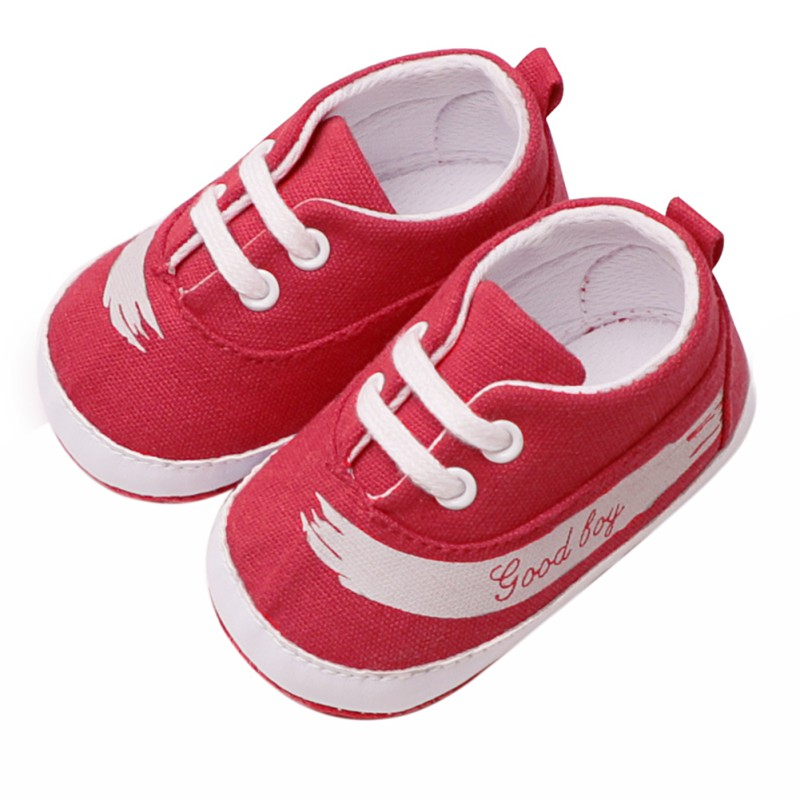 Round Solid Letter Lace-Up Girls Boys Shoes Soft Sole Canvas Baby Shoes Spring Autumn Toddler Casual Hot First Walkers Shoes