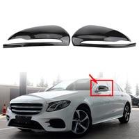 1 Pair Car Auto Carbon Fiber Side Rearview Mirror Cap Cover Trim for Mercedes Benz C/E/GLC/S Class W205 W213 X253 W222