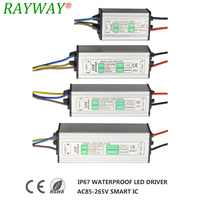 IP67 Waterproof Led Driver 300-3000mA 10W 20W 50W 100W Transformer Adapter 85-265V To 20-39V For Spotlight Bulb Floodligh