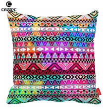 Purple Pink Neon Bright Andes Abstract Geometric Bohemia Print Cushion  Covers Decorative Pillow Cases Home Decor Car Sofa Chair