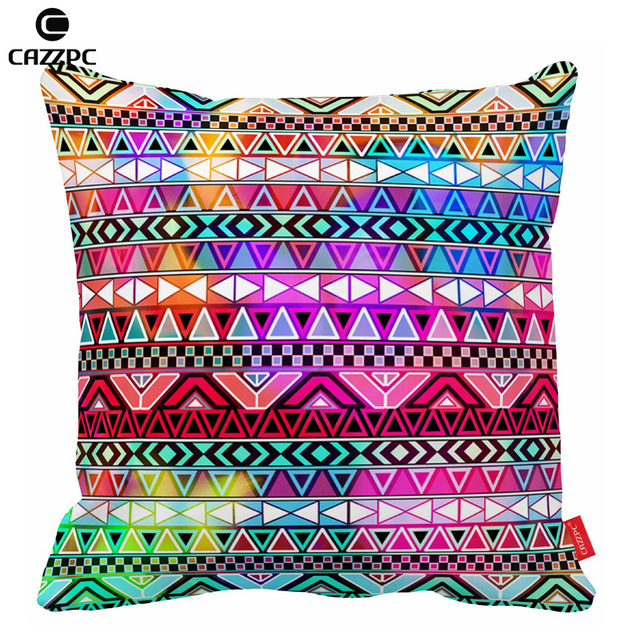 Purple Pink Neon Bright Andes Abstract Geometric Bohemia Print Cushion Covers Decorative Pillow Cases Home Decor