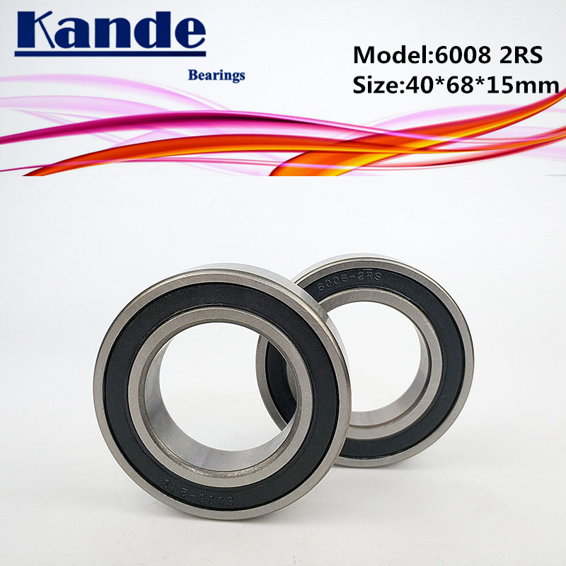 Qty. 10 6008-2RS two side rubber seals bearing 6008-rs ball bearings 6008rs