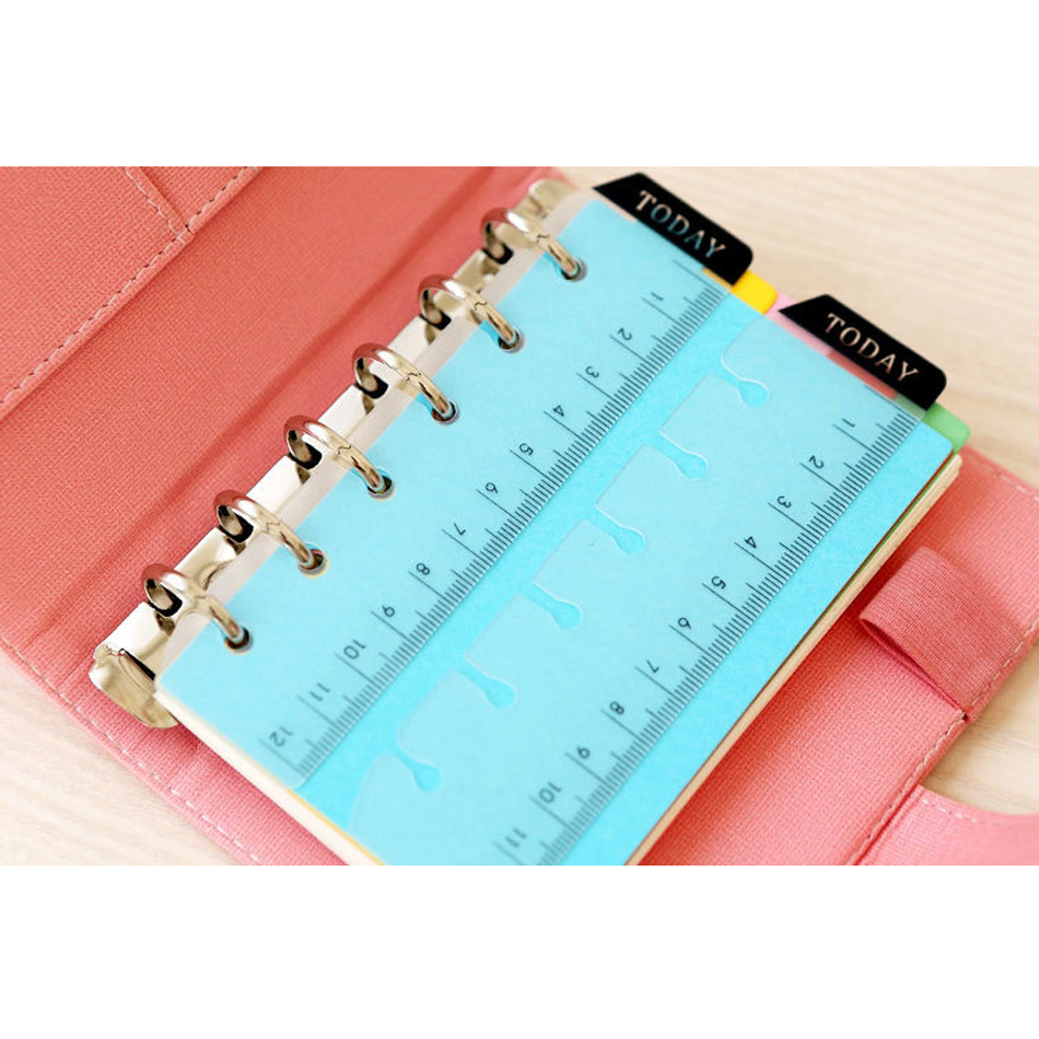 Quilting Tools New Straight Books Ruler Loose-leaf Today Rulers Frosted Transparent Mint Cute Kawaii Polka Dot Free Shipping