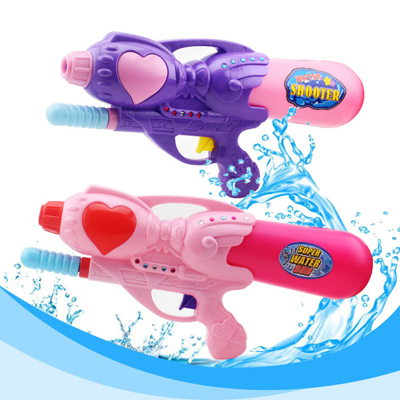 33CM Summer Outdoor Pink Girl Pressure Water Gun Child Water Gun Pumping Water Toy Soaking Pump Action Water Gun Spray Gun