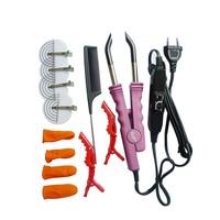 Professional Variable Heat Control FLAT PLATE Fusion Hair Extension Keratin Bonding Salon Tool Heat Iron Wand