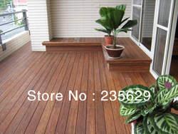 Decking de bambu ecofriendly para o revestimento personalizado exterior de erea/chocolate escuro/mais barato do que o decking de madeira/vida útil longa