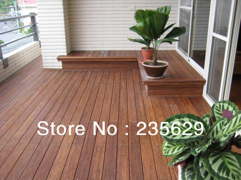 Ecofriendly bamboe terrasplanken voor outdoor erea donkere chocolade