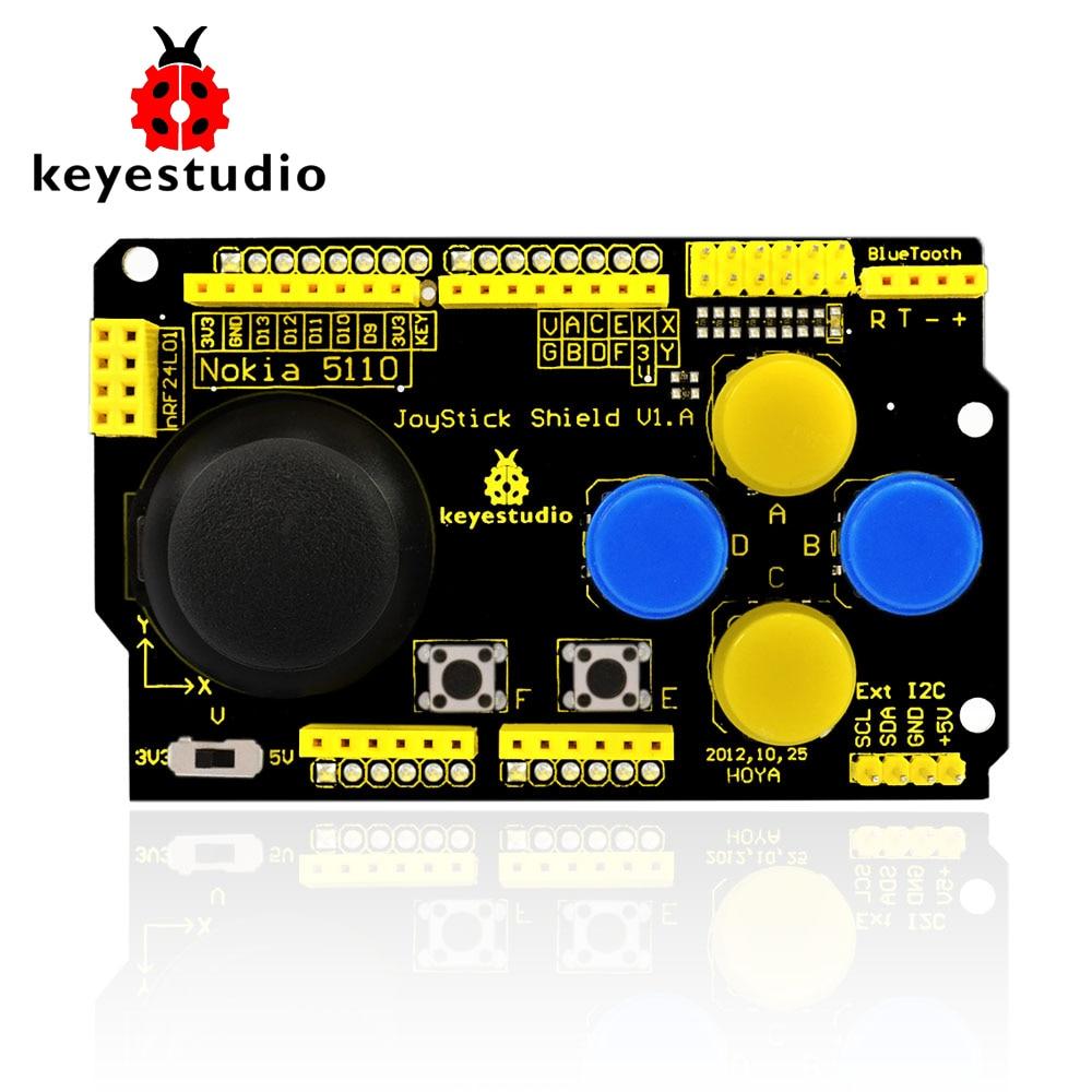 Free shipping ! Keyestudio JoyStick Shield PS2 for Arduino nRF24L01 Nk 5110 LCD I2C