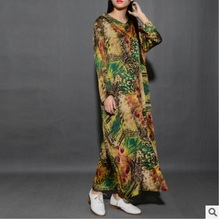 Product release in spring of 2017, the brand quality silk women loose big yards long shirts