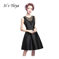 It S Yiiya New Sleeveless Cocktail Dresses Elegant Simple Little Black Dress Lace Party Cocktail Frocks
