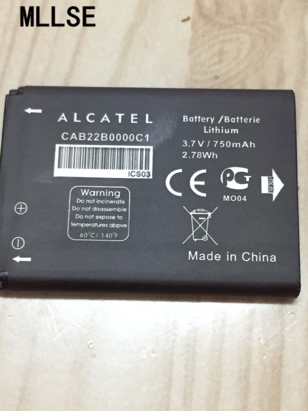 MLLSE Battery Alcatel 750mah One-Touch for One-touch/1008/1009x1010d/.. title=