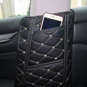 Image 5 - PU Leather Car Seat Belt Protective Pad Crash Mat Pillar Anti Kick Mat Covers For Honda Accord 10th 2018 Interior Accessories