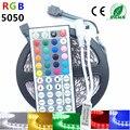 5M 10M IP65 waterproof rgb led strip light 5050 smd flexible led strip dc12V 150led 5M RGB led rope +44key IR remote controller
