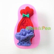 Mamá y guisante 0707 envío gratis cuna en forma de molde de silicona Cake Decoration Fondant Cake 3D molde