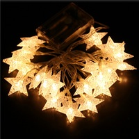 FUNIQUE 1Set LED String 2m Star Christmas Lights Christmas Decoration Home Garden Outdoor Decor DIY Party