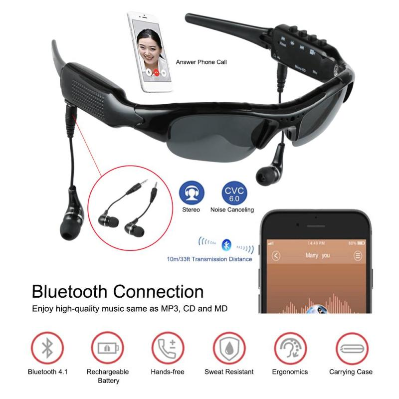 70844e2b06 Aliexpress.com   Buy Sport Sunglasses Wearable Mini Camera Eyewear 1080P HD  Bluetooth MP3 Player Video Recorder Outdoor 4 in 1 Mini Camcorder Camera  from ...