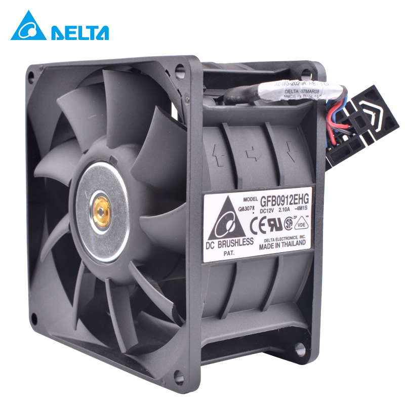 DELTA GFB0912EHG 9250 92x92x50mm 12V 2.10A Double ball bearing double motor double fan leaves high speed server cooling fan original delta afb0912shf 9032 9cm 12v 0 90a dual ball bearing cooling fan page 1