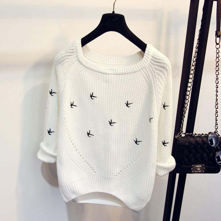 2018 nuevas llegadas primavera otoño moda mujer suéter de alta calidad suéteres casuales mujeres jumper jerseys sueltos Femininas Blusas