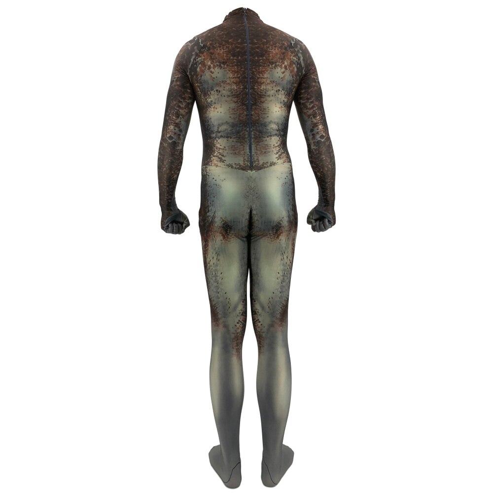 Adult Kids Predator Cosplay Costume Zentai Jumpsuit 3D Print Bodysuit Outfit