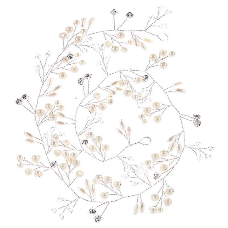 כתר שיער חתונה סיכות אביזרי נשים פרחוני מצנפות כלות פרל הכלה כיסוי ראש לחברה קישוטי שיער