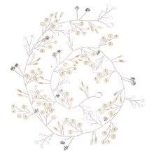 Western Wedding Fashion Headdress For Bride Handmade Wedding Crown Floral Pearl Hair Accessories Hair Ornaments 6C0193