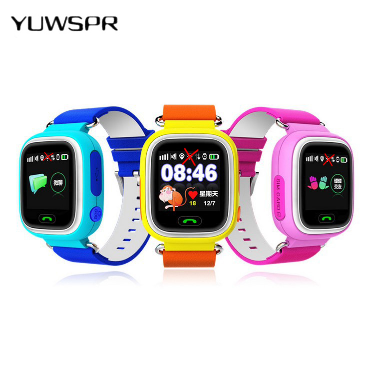 Kids Watches Tracker Location-Finder Children Q90 Anti-Lost-Sensor Touch-Screen Sos-Call