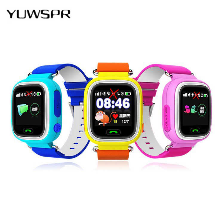 Children  tracker watches  Anti-lost sensor touch screen Tracking SOS Call location Finder kids watches Q90