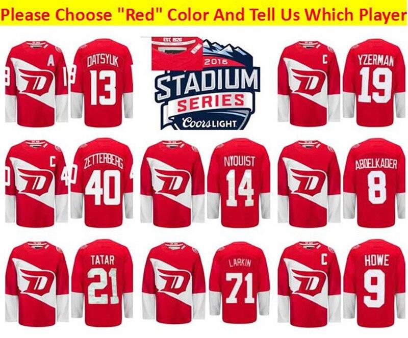 wholesale dealer ea4a5 8e84c Wings Series Detroit Jersey Stadium Red Larkin patrol ...