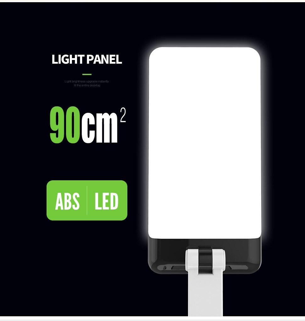 YAGE Led Desk Lamps Night Light Foldable LED Table Lamp 1050mAh Battery in Table Light Flexible Three Modes Mini Lamp Flash Deal 8