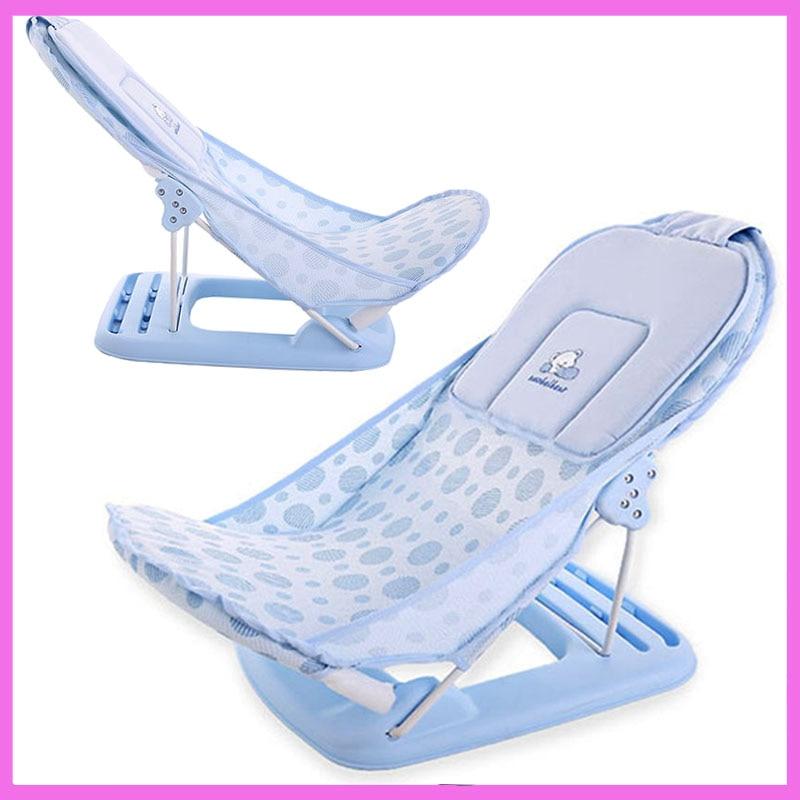 цены Foldable Baby Bath Tub/bed/pad Bathtub Bath Chair/shelf Baby Shower Nets Newborn Baby Bath Seat Infant Bath Bathtub Support