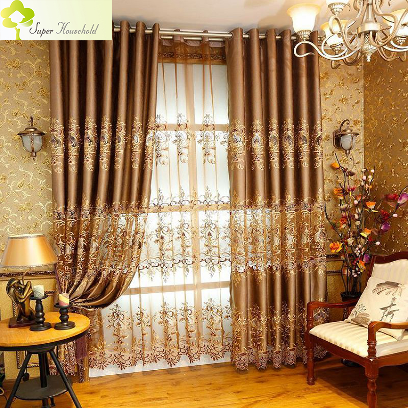 Bedroom With Red Curtains Luxury Bedroom Curtain Ideas Bedroom Interior Design Rules Bedroom Benches Images: 1 PC Royal Embroidered Window Curtains For Living Room
