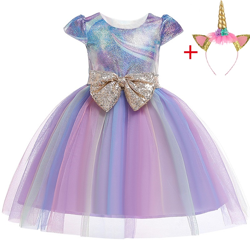 Image 4 - New Unicorn Dress for Girls Embroidery Ball Gown Baby Girl Princess Birthday Dresses for Party Costumes Children Clothing-in Dresses from Mother & Kids