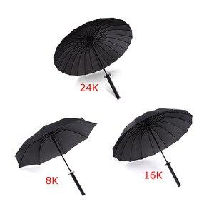 Image 3 - Créatif longue poignée grand coupe vent samouraï épée parapluie japonais Ninja comme soleil pluie droite parapluies automatique ouvert